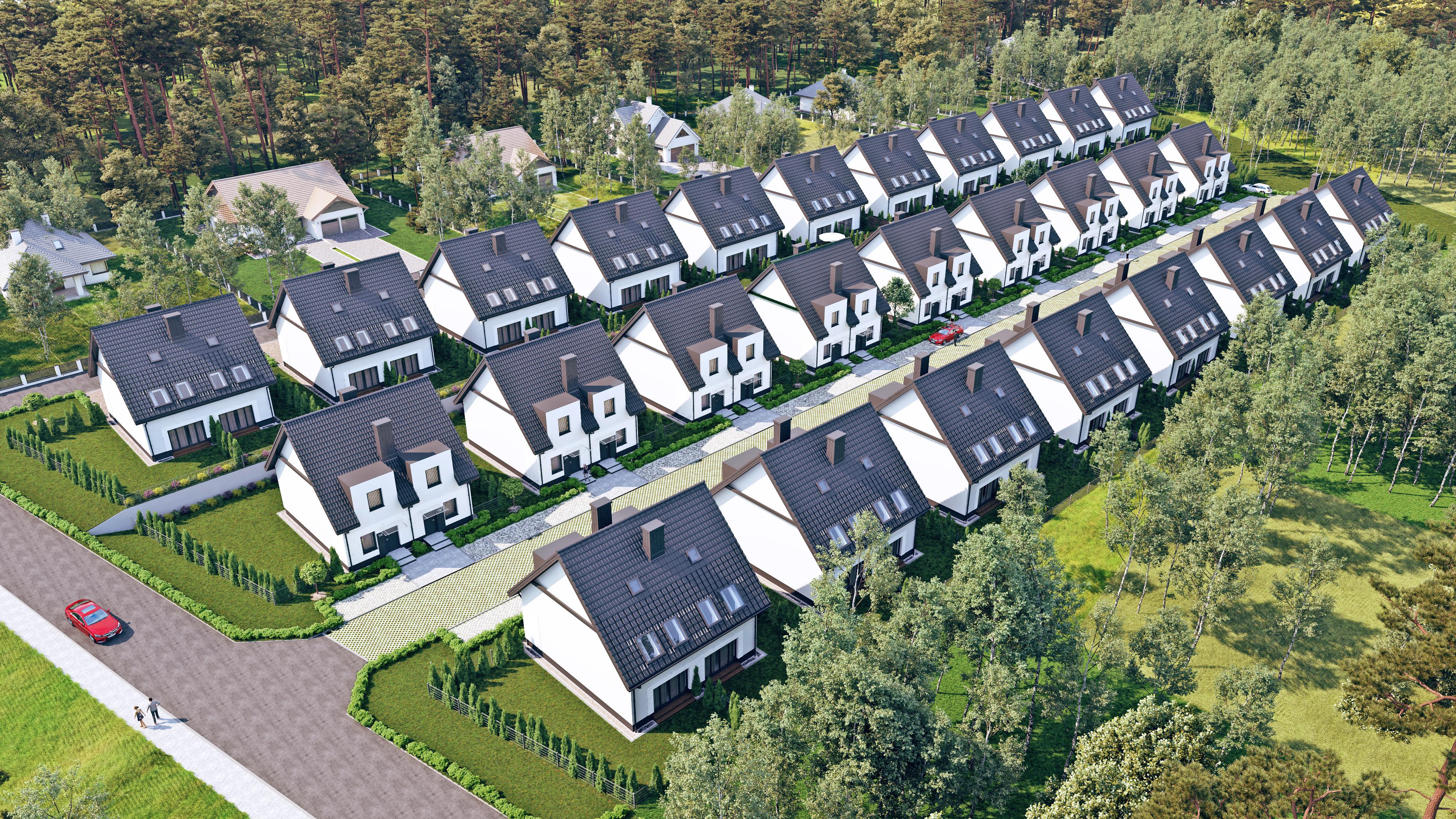 Domy na przedmieściach - bliźniaki