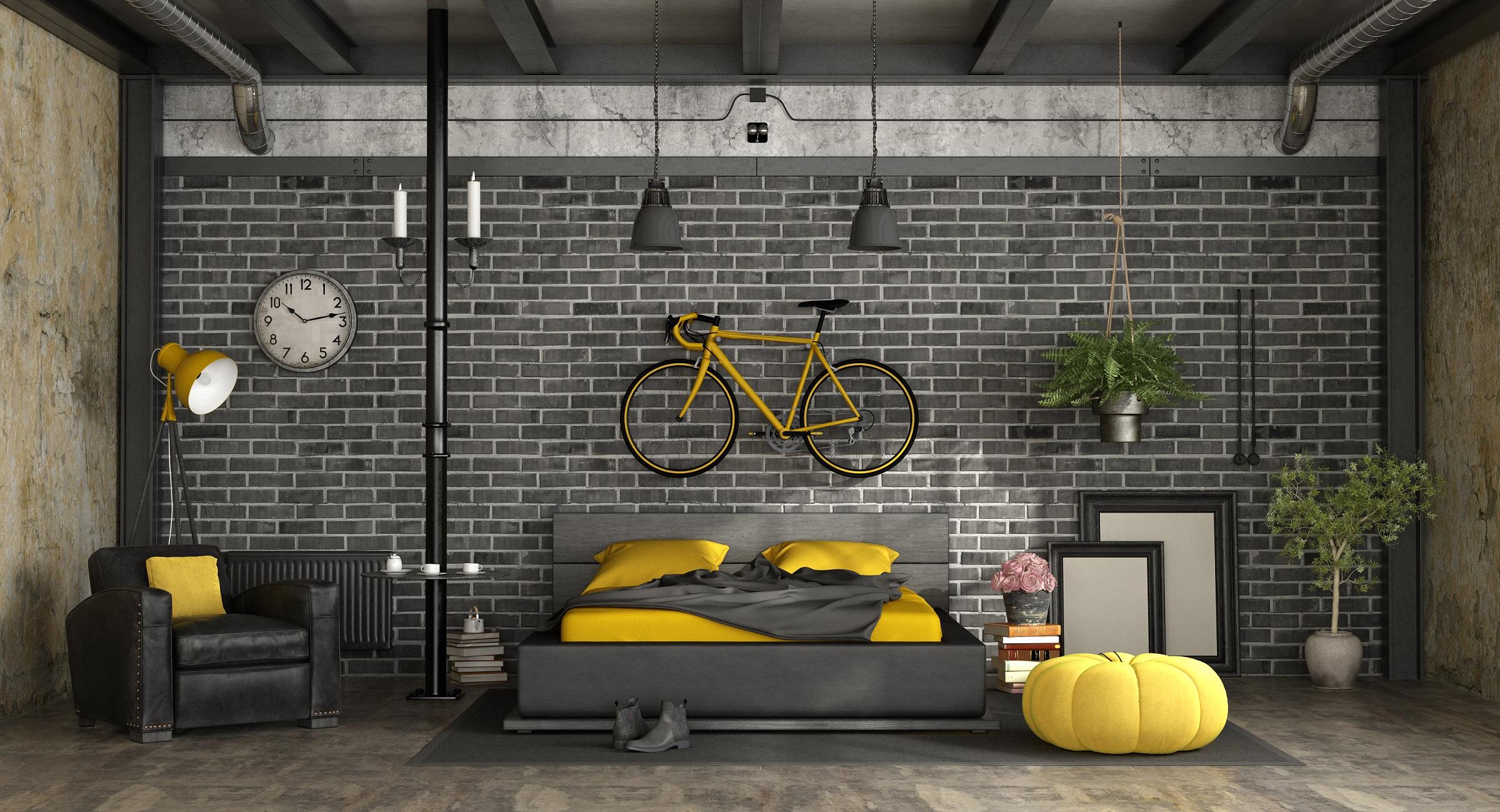 styl industrialny - mieszkanie